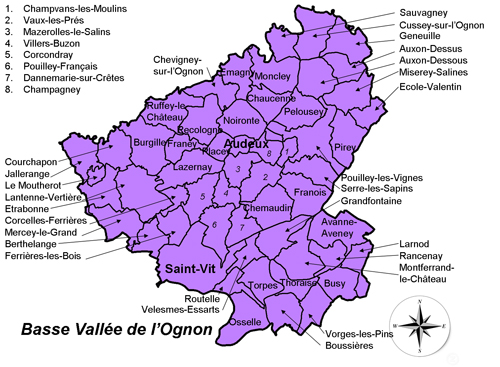 Carte du Pays Cynégétique BVO