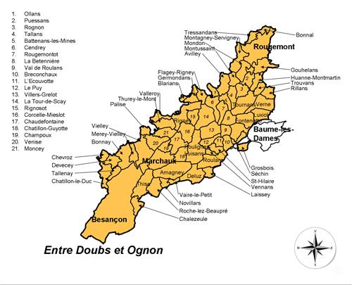 Carte du Pays Cynégétique EDO