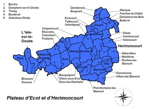 Carte du Pays Cynégétique PEH