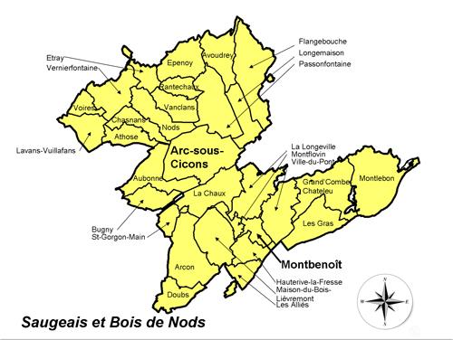 Carte du Pays Cynégétique SBN