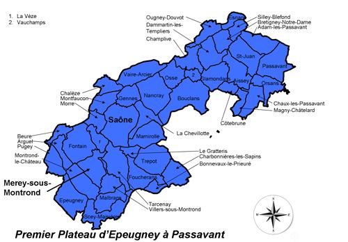 Carte du Pays Cynégétique PPEP