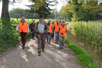 Départ chasse avec groupe invités